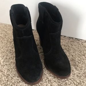 Splendid suede black boots booties size 6
